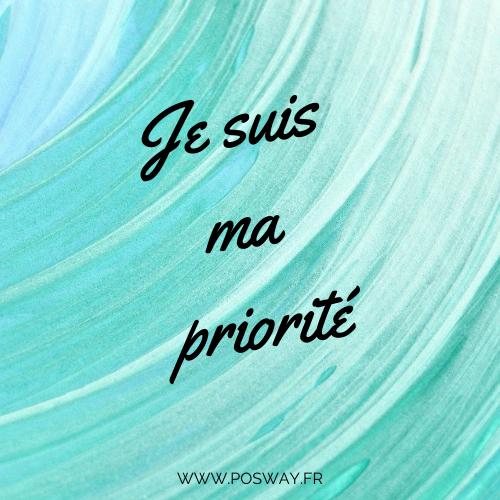 Je suis ma priorité